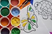 Рисование цветным песком