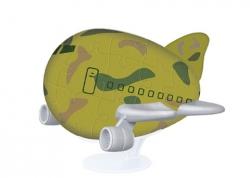 """Фигурный пазл 3D """"Военный самолетик"""""""