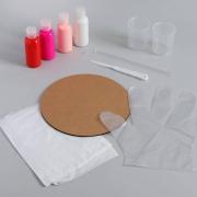 Рисование акрилом «Цветочные узоры» (в технике флюид арт)