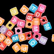 Буковки - кубики цветные (30 шт.)