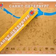 """Скретч-карт """"Санкт-Петербург"""" в картонном тубусе"""