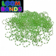 Двухцветные (бело-зеленые) резиночки (600шт)
