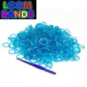 Полупрозрачные голубые резиночки Loom Bands (600шт)